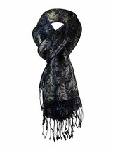 Style & Co Scarf Sz OS One Size Purple Multi Color Metallic Casual Fring... - $14.27