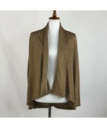 Women's Lauren Ralph Lauren Metallic Gold Cardigan Medium sz M - $37.67