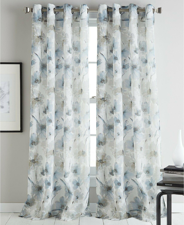 "DKNY Modern Bloom 50"" x 63"" Curtain Panel - $20.37"
