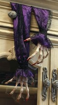 """Scary Halloween Witch Hands Decoration Purple Sleeves 22"""" - £22.75 GBP"""