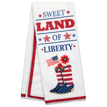 Set of 2 Patriotic Sentiments Kitchen Towels, 15x25 in. Land of Liberty w - $8.99