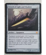 Mtg Magic Proxy 1x Sword Light and Shadow Commander Blackcore - $5.40