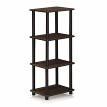 Furinno 16102WN/BR Turn-N-Tube Shelf, 3 Space, Walnut/Brown - $23.92