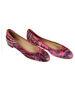 J Crew Kiki Leather Ballet Flats In Paisley 7 Multi-Color F5514 Womens S... - $45.99
