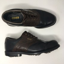FootJoy Men Sz 11XW Extra Wide DryJoy Saddle Golf Shoes Leather Croc Print 53494 - $26.73