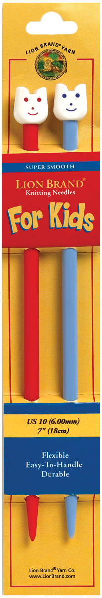 "Primary image for Lion Brand Kids Knitting Needles 7""-Size 10/6mm"