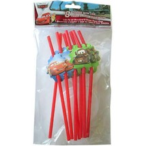 Disney Cars Party Favor Straws and Lids 8 Per Package Birthday Supplies New - $1.93