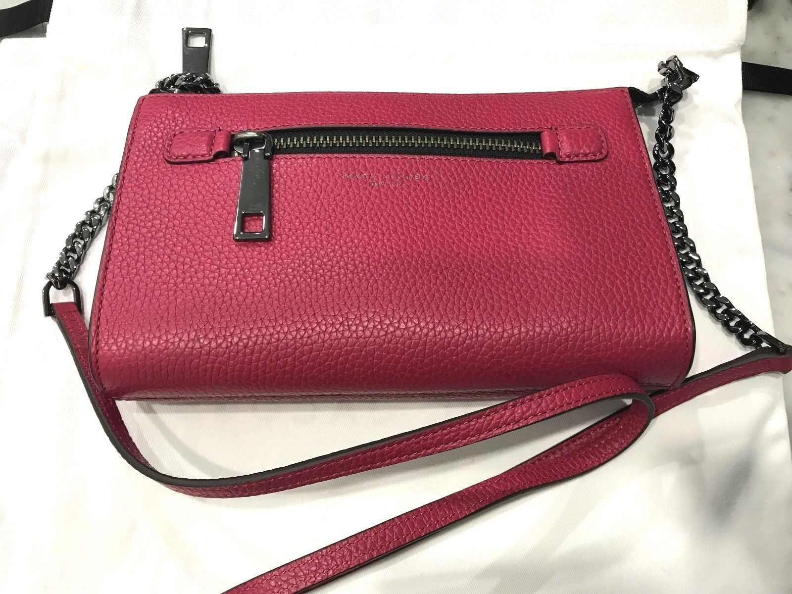 21c9d0a81a736 57. 57. Previous. Marc Jacobs Gotham Pebbled Leather E/W Crossbody Bag  Raspberry Msrp 298.00. Marc ...