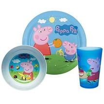 Zak Designs PEPA-0391 Peppa Dinnerware Includes Plate, Bowl, and Tumbler... - $29.13