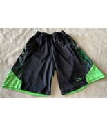 Champion Duo Dry Boys Black Neon Green Athletics Shorts Internal Drawstr... - $8.33