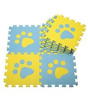 Interlocking Foam Mats EVA Foam Floor Mats (10 Tiles) Yellow Footprints