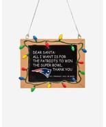 Foco NFL New England Patriots Football Chalkboard Holiday Ornament - New - $12.99