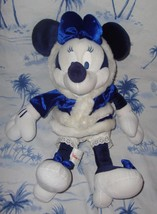 "Christmas Holiday Disney Blue Minnie Mouse 18"" Stuffed Animal Plush - $29.65"