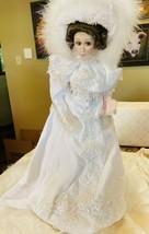 MIB Stunning Franklin Mint Maryse Nicole Charmin' Crystal Porcelain Doll... - $140.25
