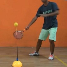 Portable Stereotype Swing Ball Machine Practice Trainer Tennis Training ... - $30.85
