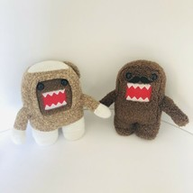 "Set Of 2 Domo 7"" Plush Dolls Limited Edition Sock Monkey Mustache Licens... - $14.84"