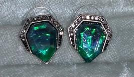 Rhinestone Earrings Blue Acrylic Gem Stud Earring new different - $16.50