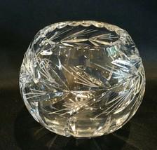 """Crystal Rose Bowl 3-3/4"""" Heavy Cut Crystal - $24.99"""