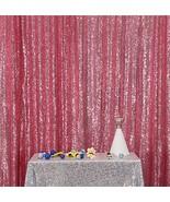Eternal Beauty Fuchsia Pink Sequin Wedding Backdrop Photography Backgrou... - $15.58