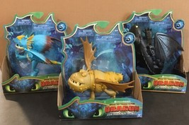 """3x_Meatlug, Stormfly & Toothless_6-8"""" Action Figure_How To Train Your Dragon_NEW - $48.37"""