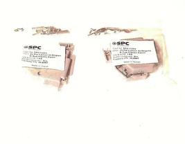 LOT OF 2 NEW SPC SPC15204 D-SUB PLASTIC COVERS, 25 PIN, 2 PIECE, 45 DEGREE