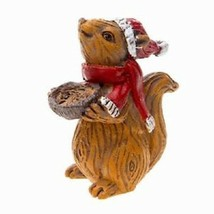 Christmas Squirrel, Holiday Squirrel, Winter Squirrel, Christmas Decor - $4.99