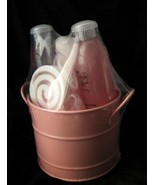 BATH SOAPS & GEL KIT in GIFT BUCKET  body wash   NEW`. - $9.89