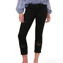 Women's LC Lauren Conrad Skinny Jeans - Black Crochet Peephole Legs - US 4