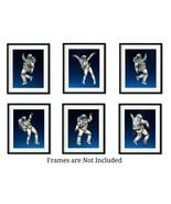 "Dancing Astronauts 6- 8""x10"" Space Themed Bedroom Decor Wall Art Prints ... - $24.70"