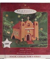 2000 Hallmark Keepsake Ornament - Lighted Candlelight Services Adobe Church - $13.10