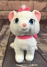 """Disney Marie 12"""" Plush French Kitten The Aristocats White Pink Bows Fluf... - $9.49"""
