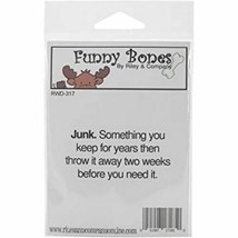 Riley & Company Funny Bones Rubber Cling Sentiment Stamp #RWD-317