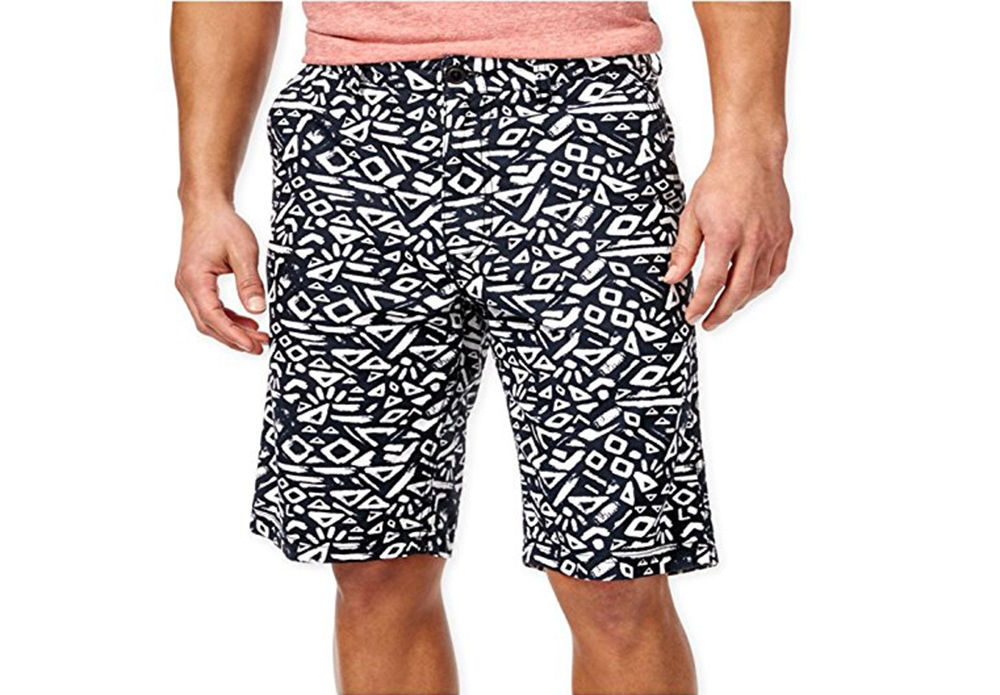 NEW MENS AMERICAN RAG SLIM FIT GRAPHIC PRINT COTTON CASUAL WALKING SHORTS