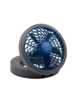 USB Powered Fan  Blue Grey with USB Plug Use With AC/DC/Powerbank - $9.49