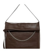Women's All Saints Lafayette Leather Shoulder Bag Prune - $289.17