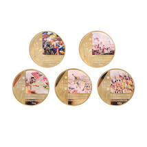 WR Independence Day Coin Colorful Gold Foil Souvenir Collection for Gift... - $14.29