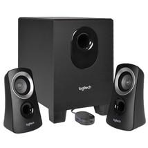 Logitech Z313 3-Piece 2.1 Channel Multimedia Speaker System(Black/Silver) - $46.77
