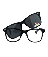 Reading Bifocal Lens Clear Glasses + Magnetic Polarized Sunglasses Topper - $15.79+