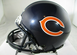 BRIAN URLACHER / NFL HALL OF FAME / AUTOGRAPHED CHICAGO BEARS MINI HELMET / COA image 3