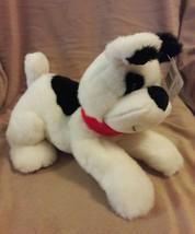 FIRST & MAIN MENAGERIE black white MUGSY PUPPY DOG  Plush Stuffed Animal... - $19.34