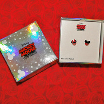 Disney Mickey & Minnie Mouse Enamel Pierced Earrings
