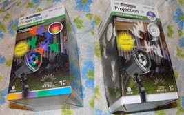 2 NIB Gemmy Halloween LED Lightshow Projection Light Whirl A Motion Stro... - $29.95