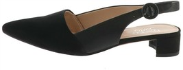 Franco Sarto Suede Pointed Toe Sling-Backs Vellez Black 8M NEW A303387 - $56.41