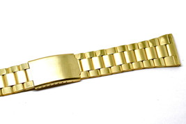 26MM STAINLESS STEEL GOLD WIDE METAL BUCKLE CLASP WATCH BAND STRAP - $14.84