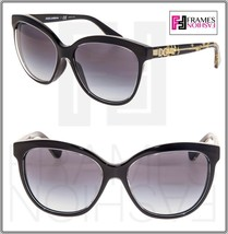 Dolce & Gabbana Gold Leaves 4251 Black Butterfly Gradient Sunglasses DG4... - $232.65