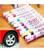 Colorful Waterproof Pen Car Tire Tread Metal Permanent Paint Markers Mar... - $3.99