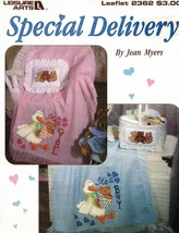 Special Delivery Leisure Arts 2362 Baby Patterns for Counted Cross Stitch - $4.11