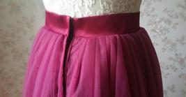 Full Tulle Maxi Skirt Plus Size Floor Long Tulle Skirt Wedding Guest Maxi Skirts image 6