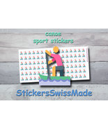 canoe   planner stickers   sport   for planner and bullet journal - $3.00+