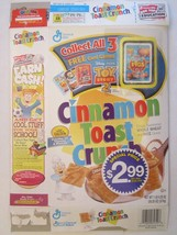 Cinnamon Toast Crunch Cereal Box 2000 Toy Story 2 Card Game When Pigs Fly 20 Oz - $23.12